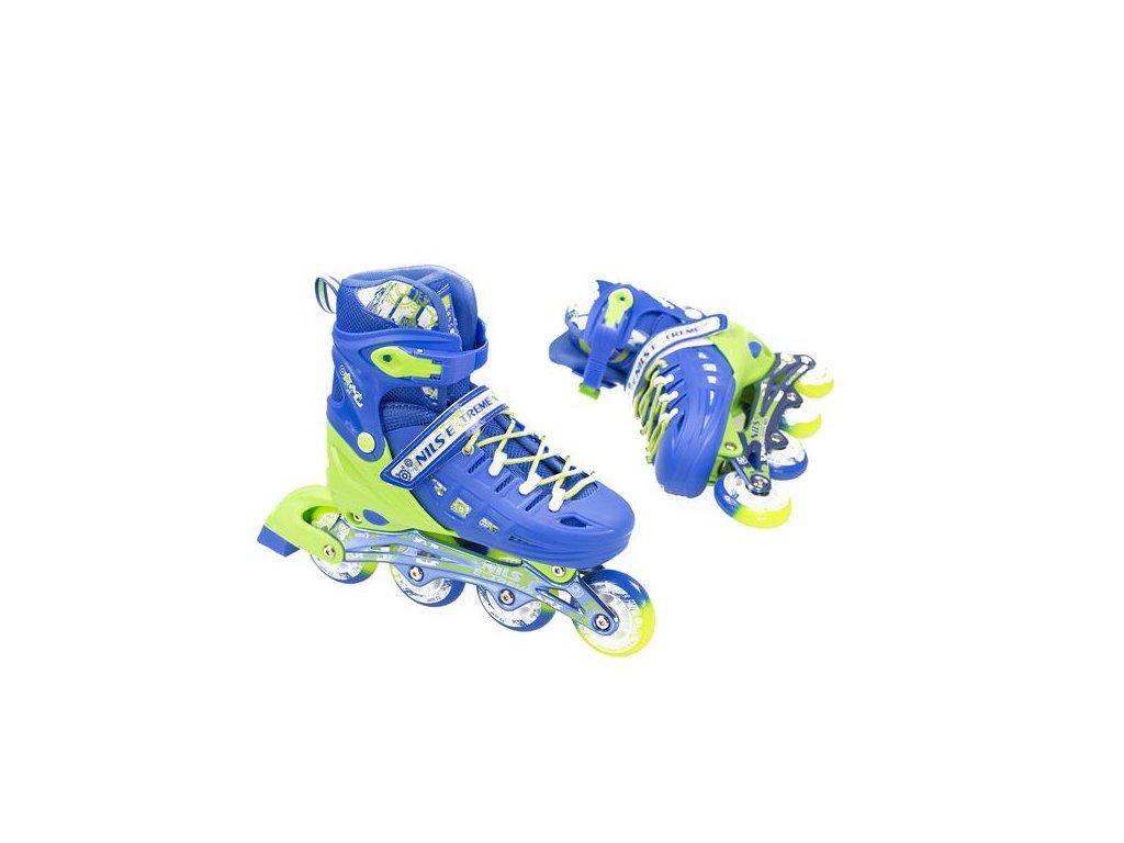 Kolečkové brusle Nils Extreme NA 1005 A modré