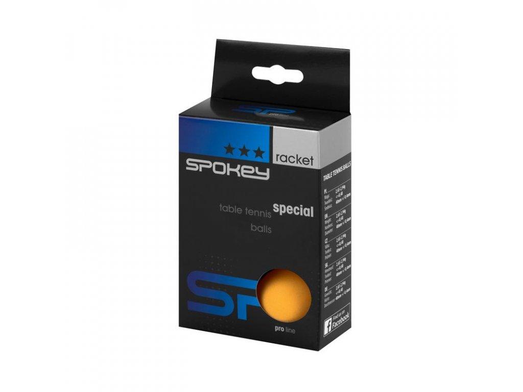 Pingpongové míčky Spokey SPECIAL 3 * oranžové, 6 ks