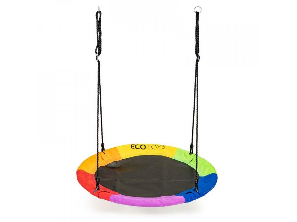 Závěsný houpací kruh Ecotoys MIR6001 100 cm multi