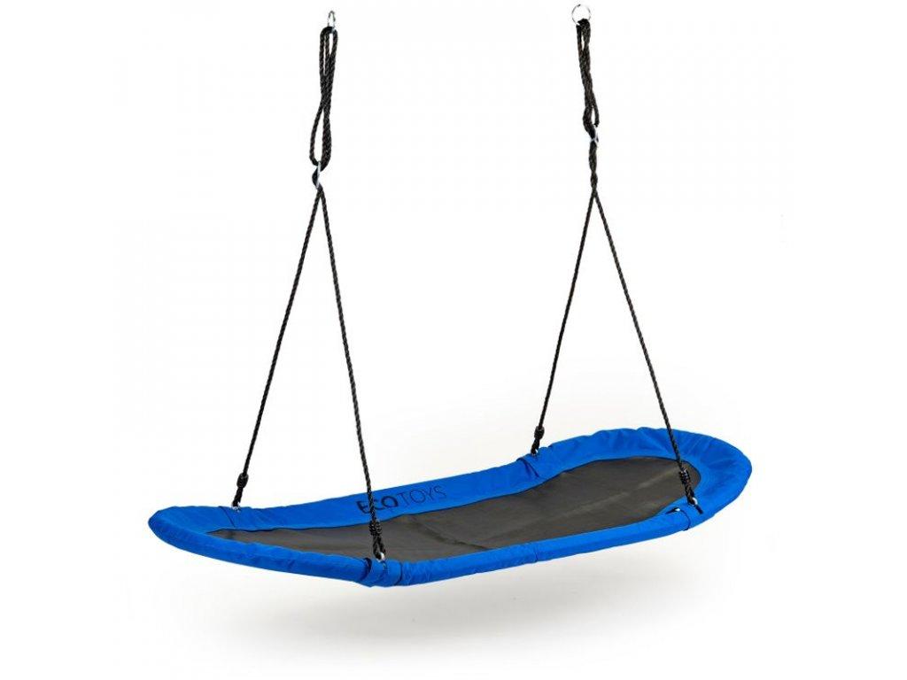 Závěsná oválná houpačka MIR624 XXl modrá