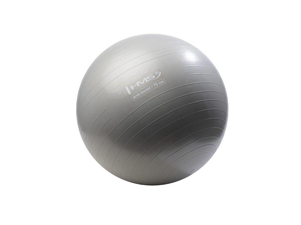 Gymnastický míč HMS 75 cm YB02 Anti-burst šedo-stříbrná
