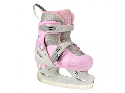 Hokejové brusle Nils Extreme NH11901 A šedo-růžové