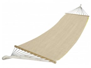 Houpací síť s tyčemi DUVLAN 220 x 130 cm