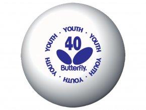 pingpongové míčky Butterfly Youth 144 ks