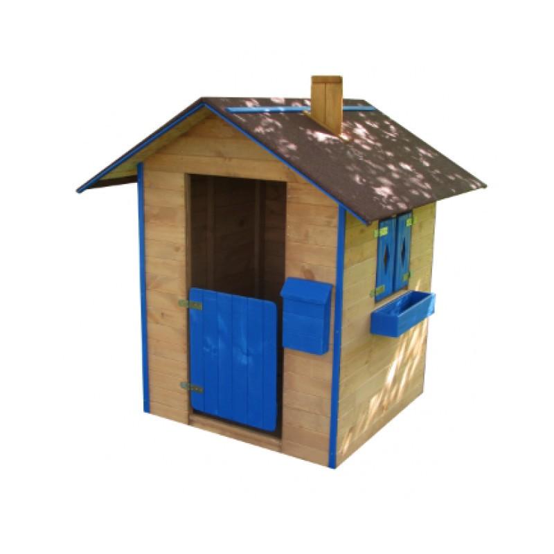 Dětský dřevěný hrací domeček