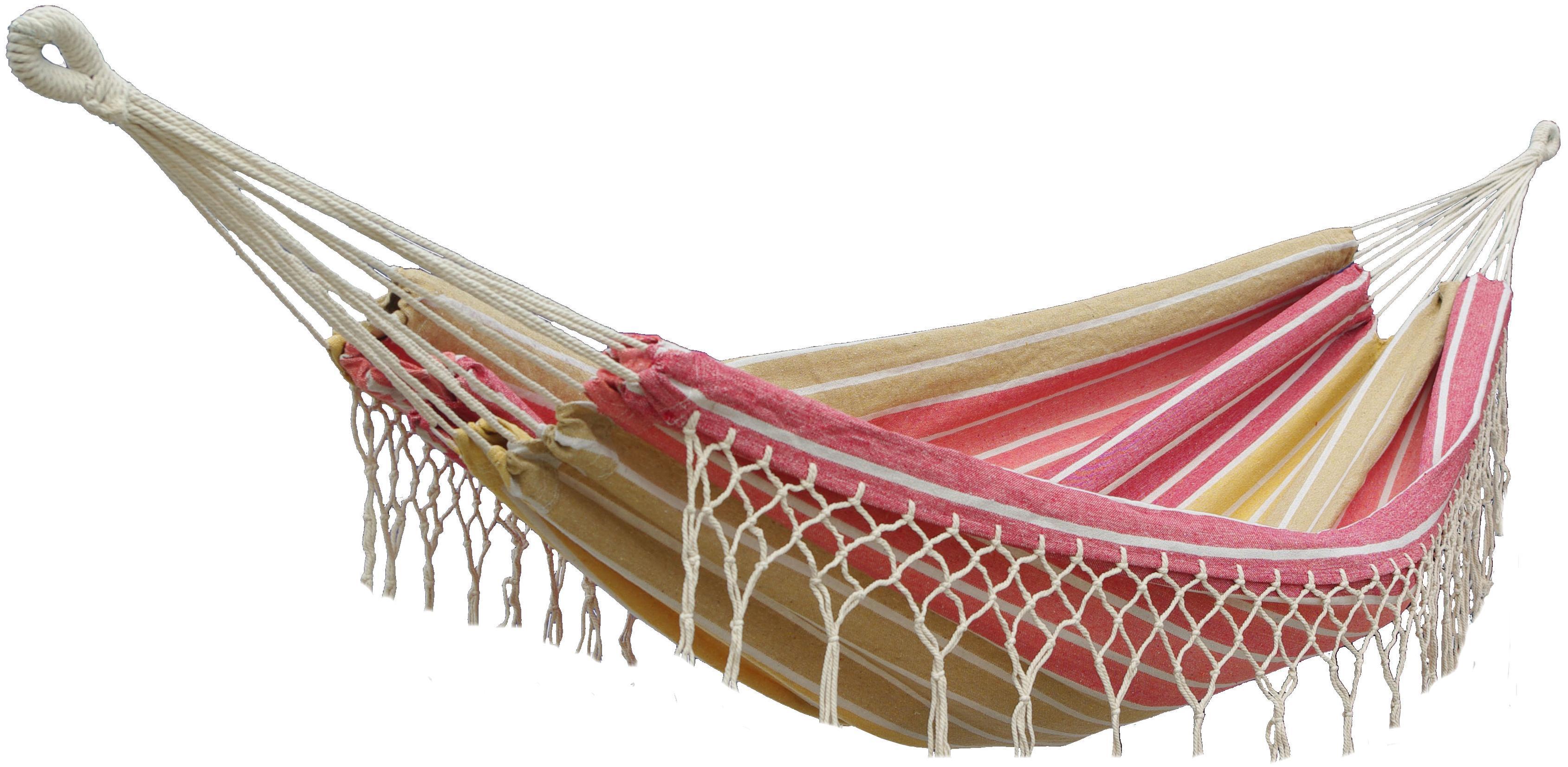 Houpací síť DUVLAN s krajkou 220 x 130 cm Barva: HA169