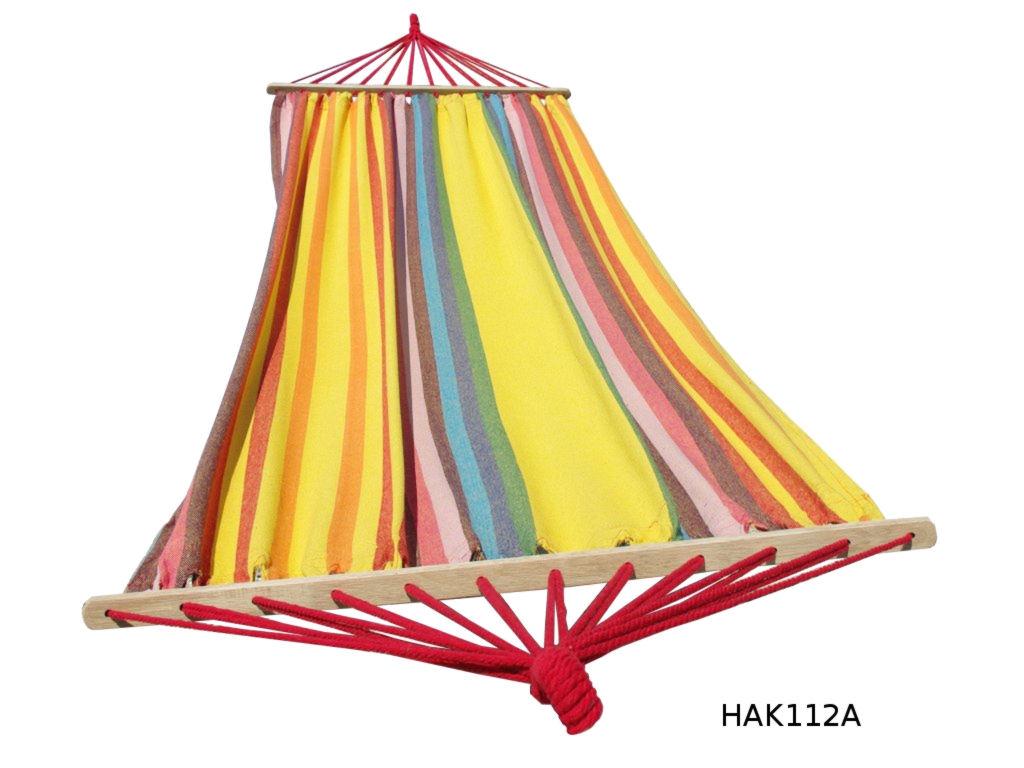 Houpací síť s tyčí DUVLAN 210 x 120 cm Barva: HAK112A