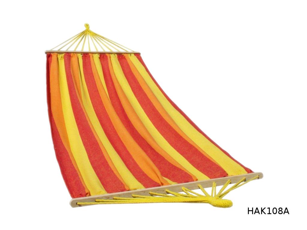 Houpací síť s tyčí DUVLAN 210 x 120 cm Barva: HAK108A