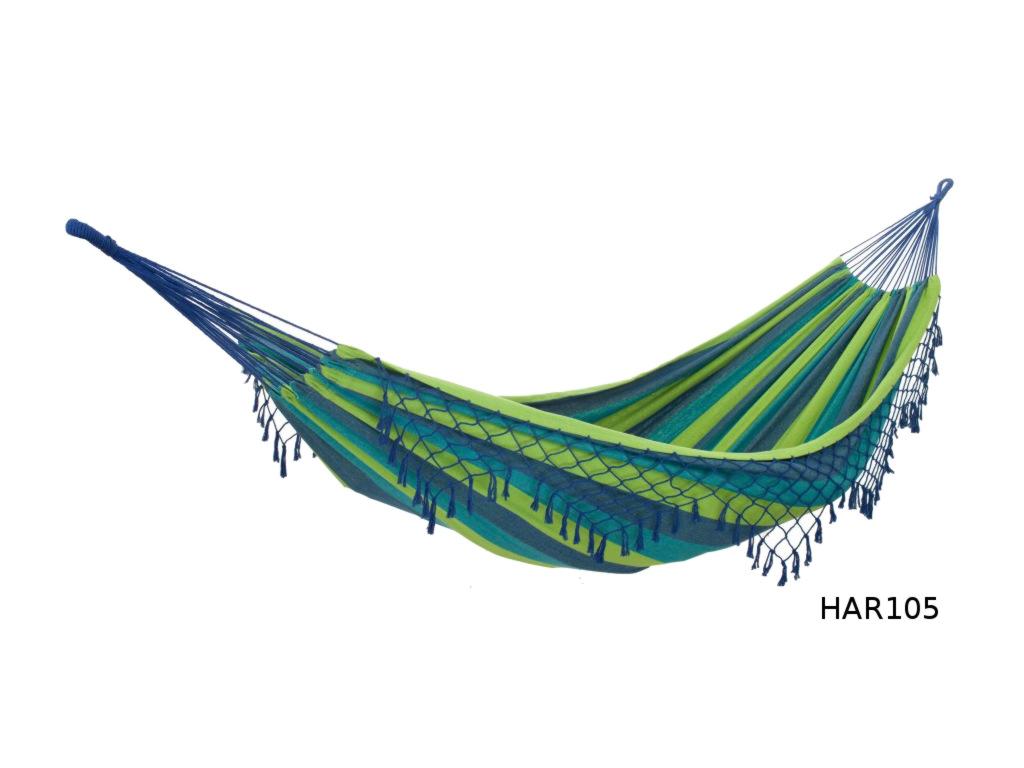 Houpací síť DUVLAN s krajkou 240 x 160 cm Barva: HAR105