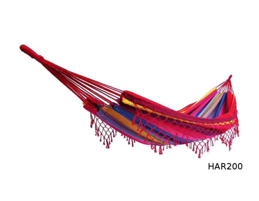 Houpací síť DUVLAN s krajkou 240 x 160 cm Barva: HAR200