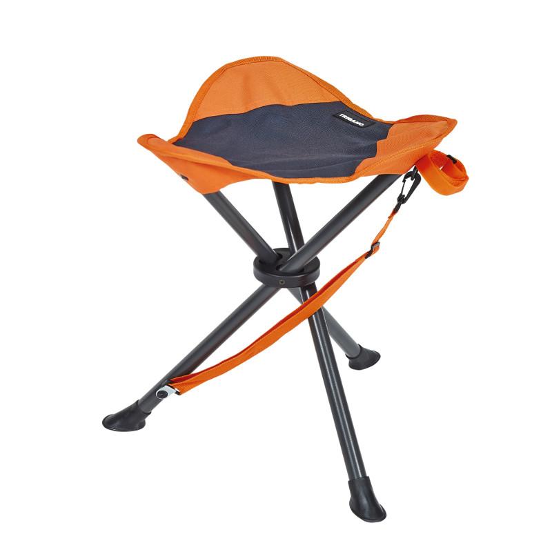 Kempingová židle Trigano Barva: tmavě šedá/oranžová