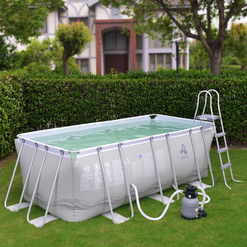 Bazén Frame Pool Passaat Grey 400 x 207 x 122 cm + písková filtrace
