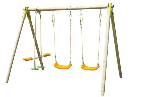 Dětská dřevěná houpačka Trigano Choupo