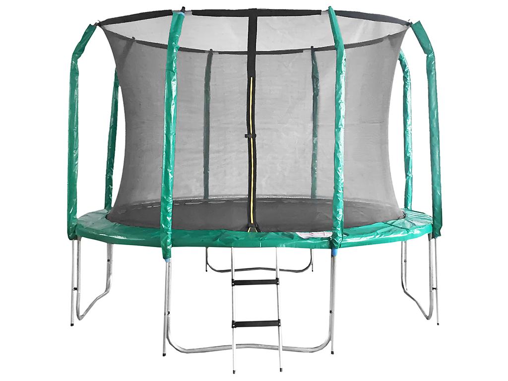 Trampolína DUVLAN SkyJump 305 cm + vnitřní síť + schůdky - 2. jakost