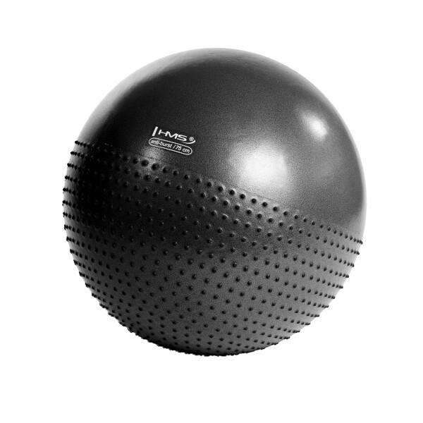 Masážní míč HMS 75 cm YB03 Barva: tmavě šedá