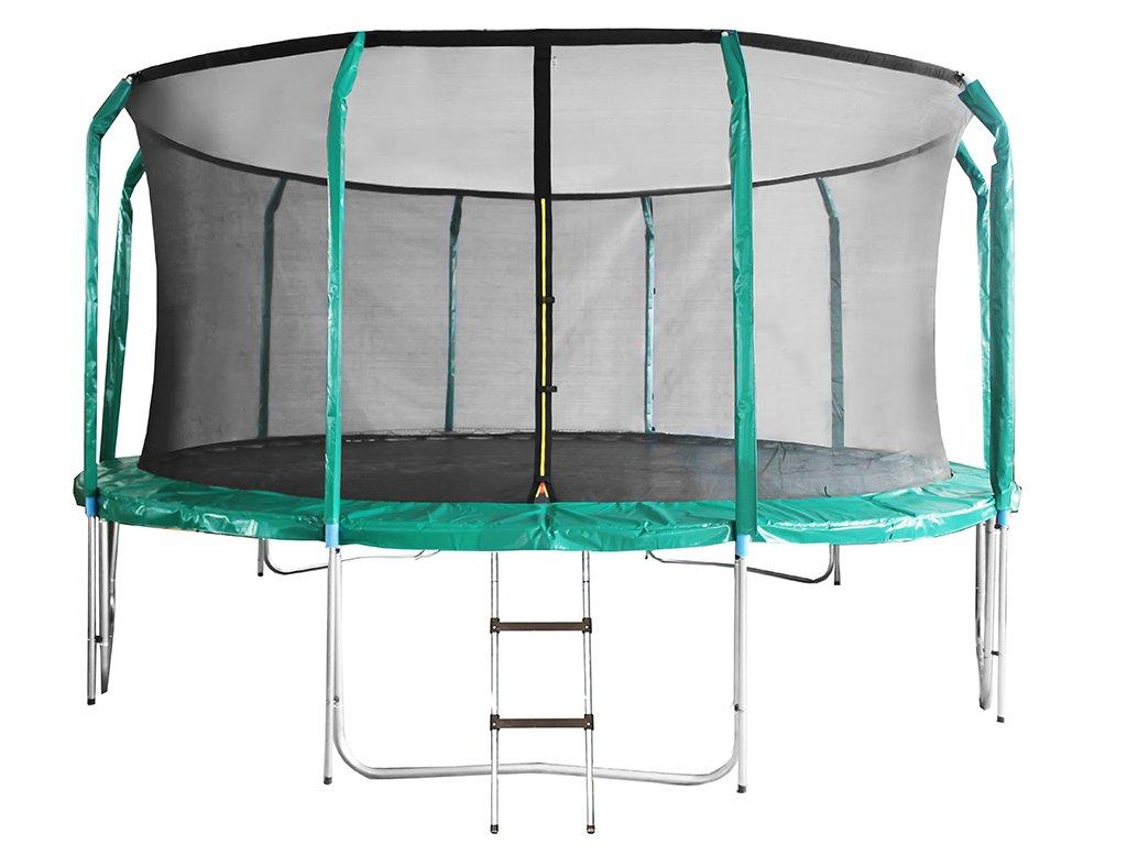 Trampolína DUVLAN SkyJump 488 cm + vnitřní síť + schůdky