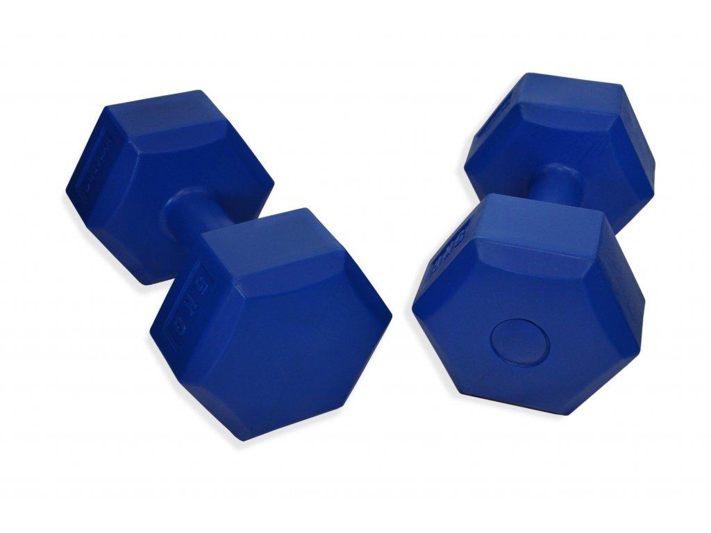 Hatszögű kézisúlyzó DUVLAN Addie 2 x 5 kg