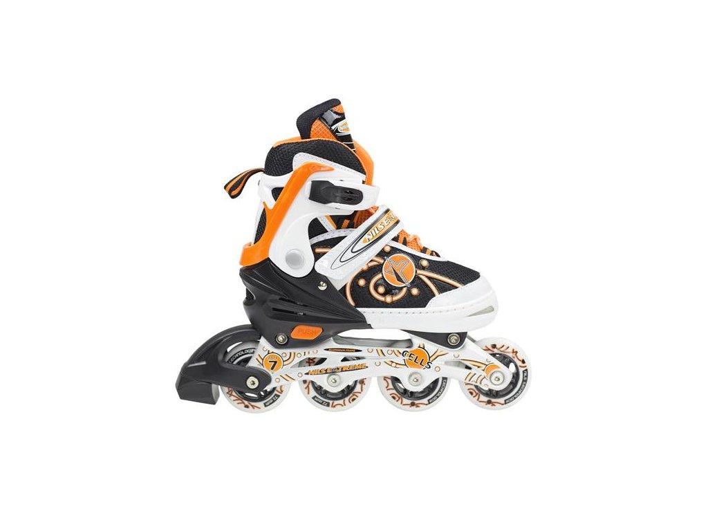 Detské kolieskové korčule Nils Extreme NA 1152 A oranžové (Veľkosť L (33-37))