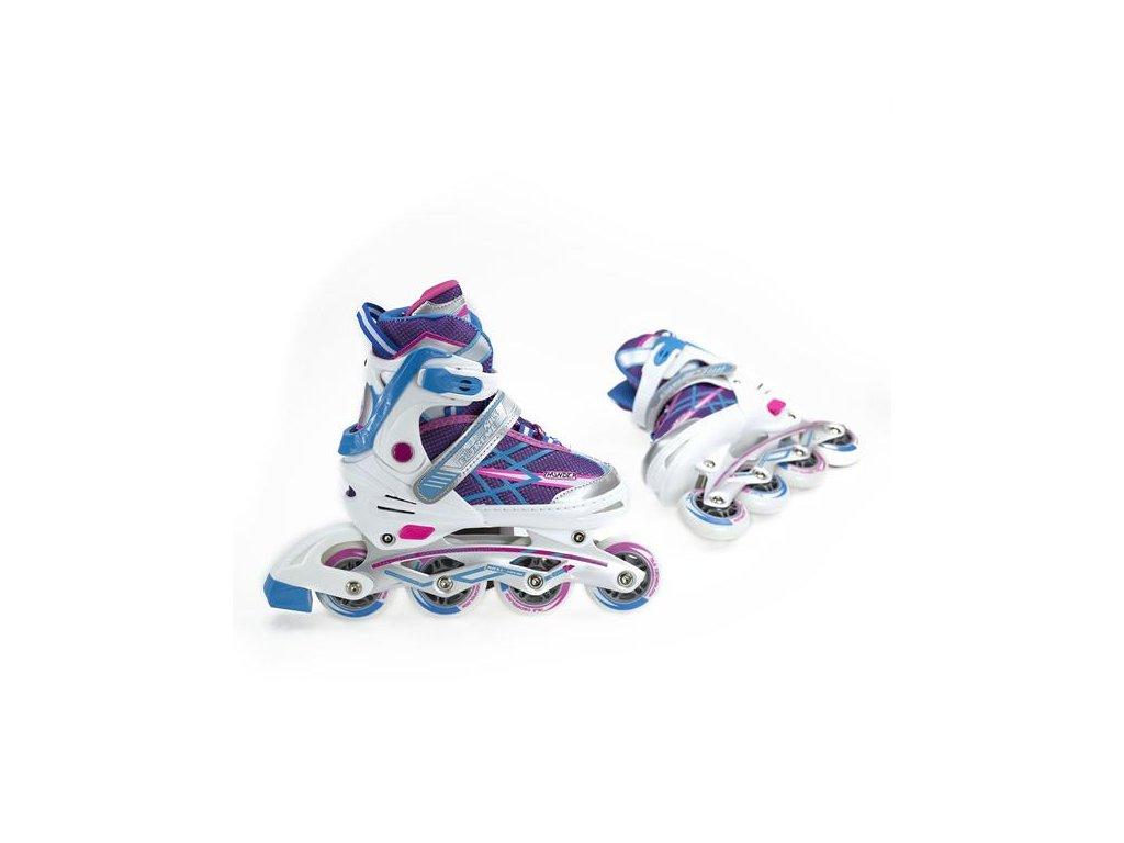 Detské kolieskové korčule Nils Extreme NA 1160 A fialové (Veľkosť L (39-42))