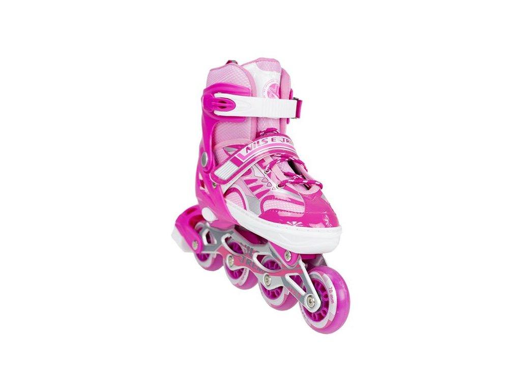 Kolieskové korčule Nils Extreme NA 1828 A ružové (Veľkosť L (39-42))