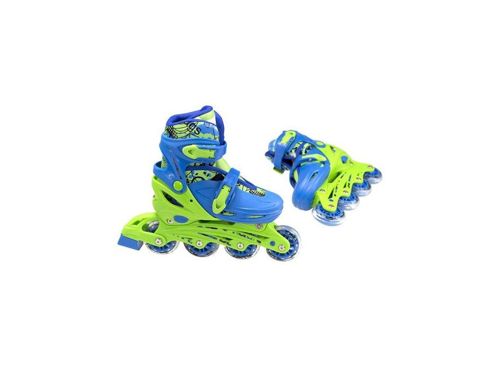 Detské korčule Nils Extreme 4v1 NH 18330 A modré (Veľkosť M (35-38))