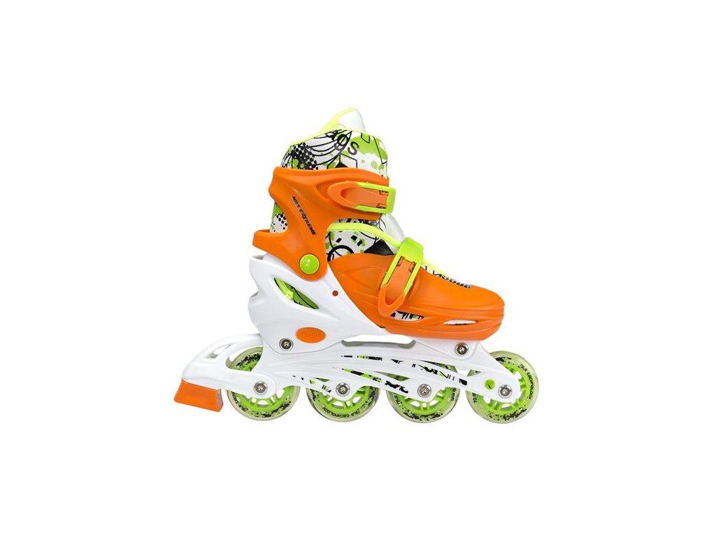Detské korčule Nils Extreme 4v1 NH 18330 A oranžové (Veľkosť M (35-38))