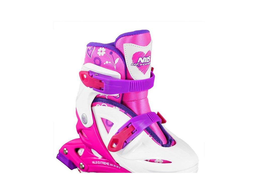 Detské korčule Nils Extreme NJ 0321 A ružové (Veľkosť L (36-40))