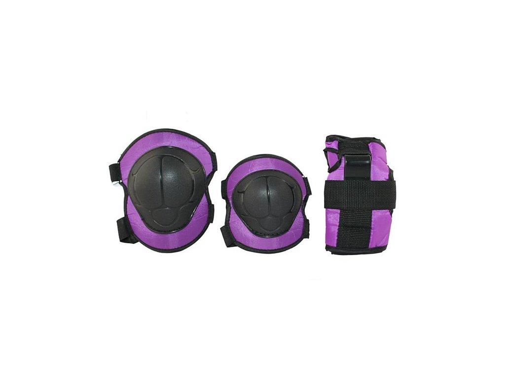 Súprava chráničov Nils Extreme H110 fialová (Veľkosť M)