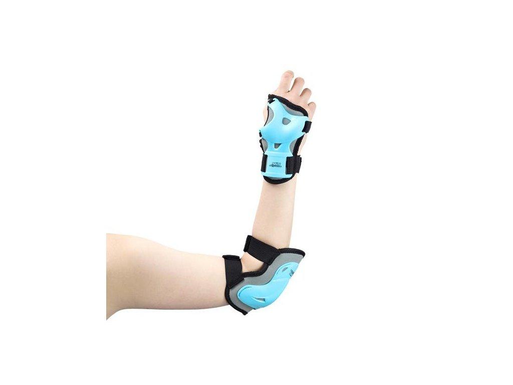 Nils Extreme H716 testvédő szett - szürkés kék