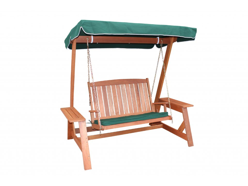 89502 Global Swing with Green Canopy and Horizon Green Cushion H