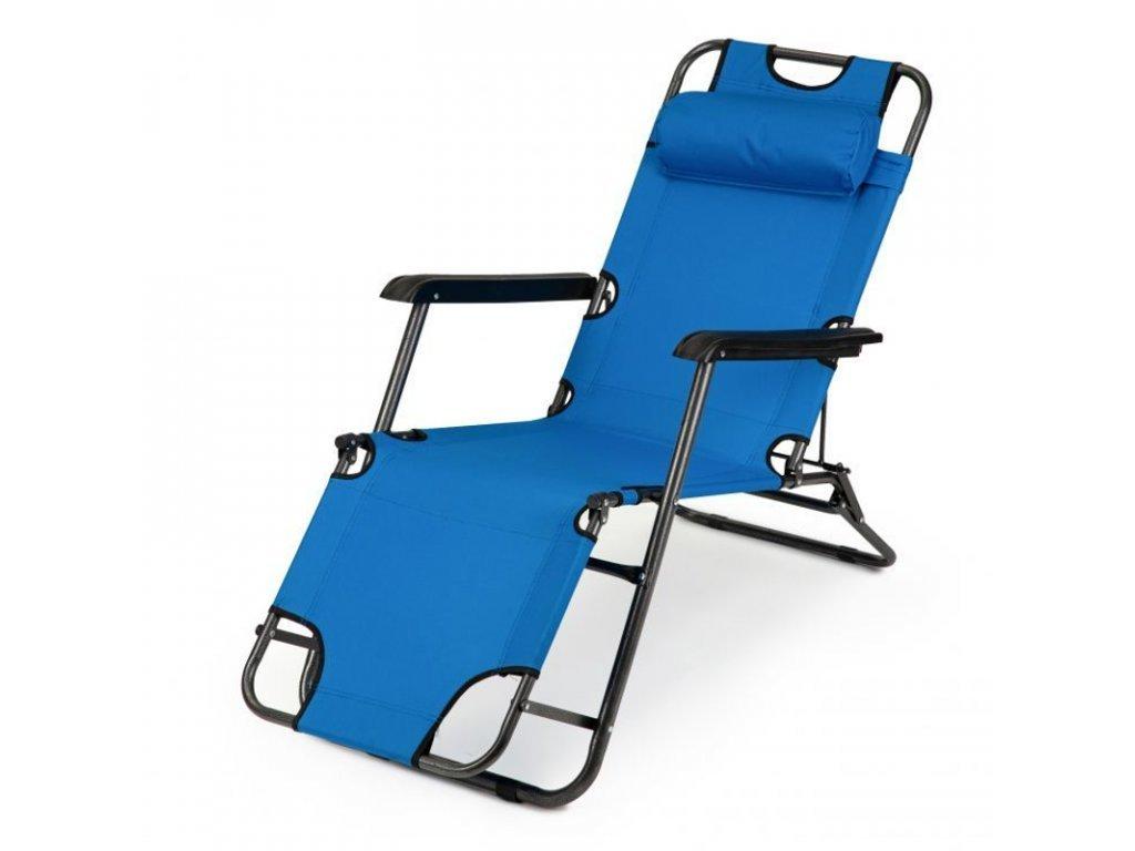 Kerti napozóágy ModernHome L-145 kék