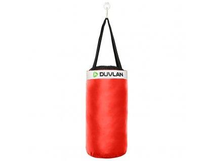 Detské boxovacie vrece DUVLAN 50 x 25 cm (Farba červená)