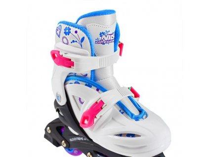 Detské korčule Nils Extreme NJ 0321 A biele (Veľkosť M (31-35))