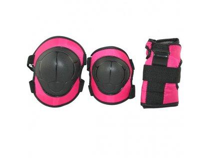 Súprava chráničov Nils Extreme H110 ružová (Veľkosť M)