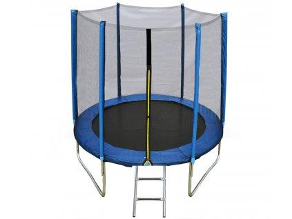 Blue trampoline with ladder