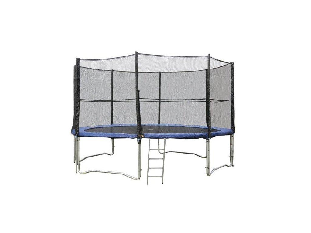 Trampolína DUVLAN 427 cm + ochranná sieť + schodíky