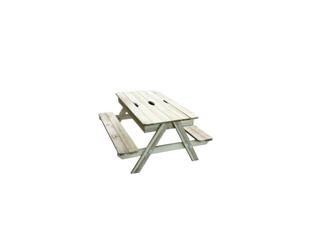 Detské pieskovisko a piknikový stôl Trigano Picsand