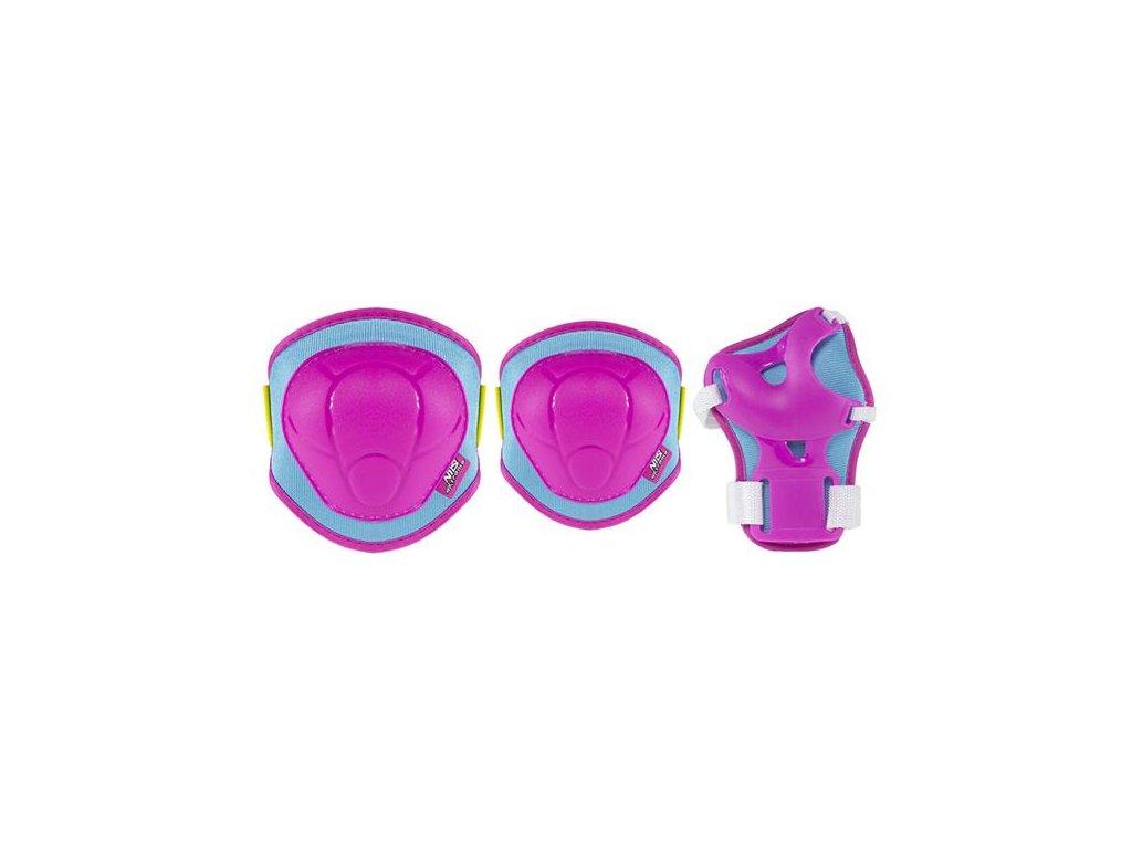 Súprava chráničov Nils Extreme H106 ružovo-modrá