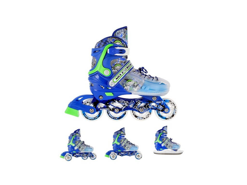 Kolieskové korčule Nils Extreme 4v1 NH18122 modré