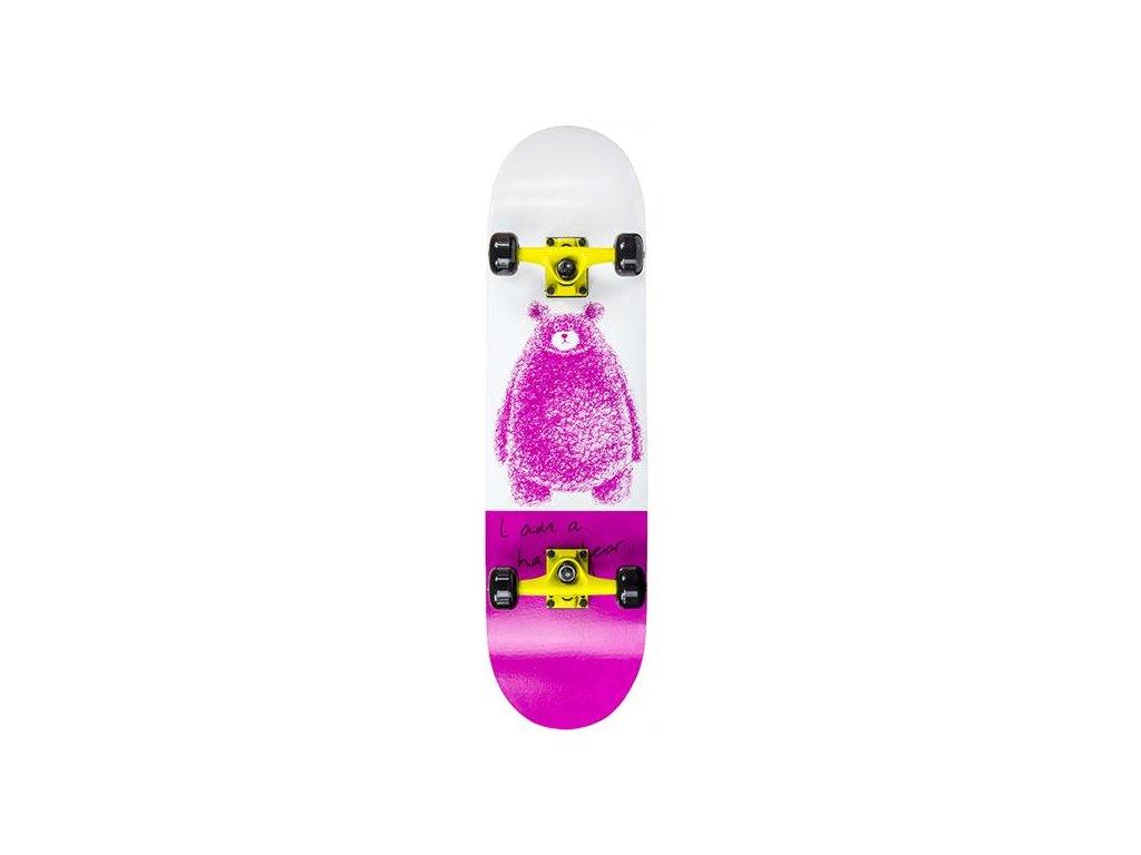 Skateboard Nils Extreme CR 3108 SB Pink Bear