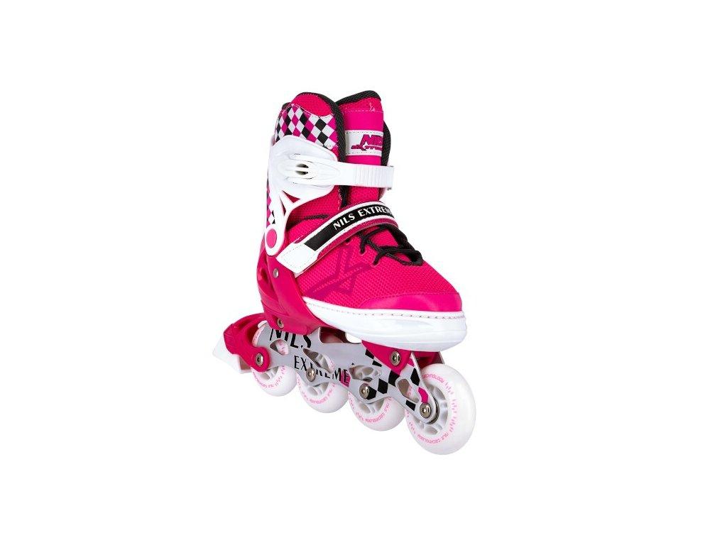 Kolieskové korčule Nils Extreme NA 13911 A ružové