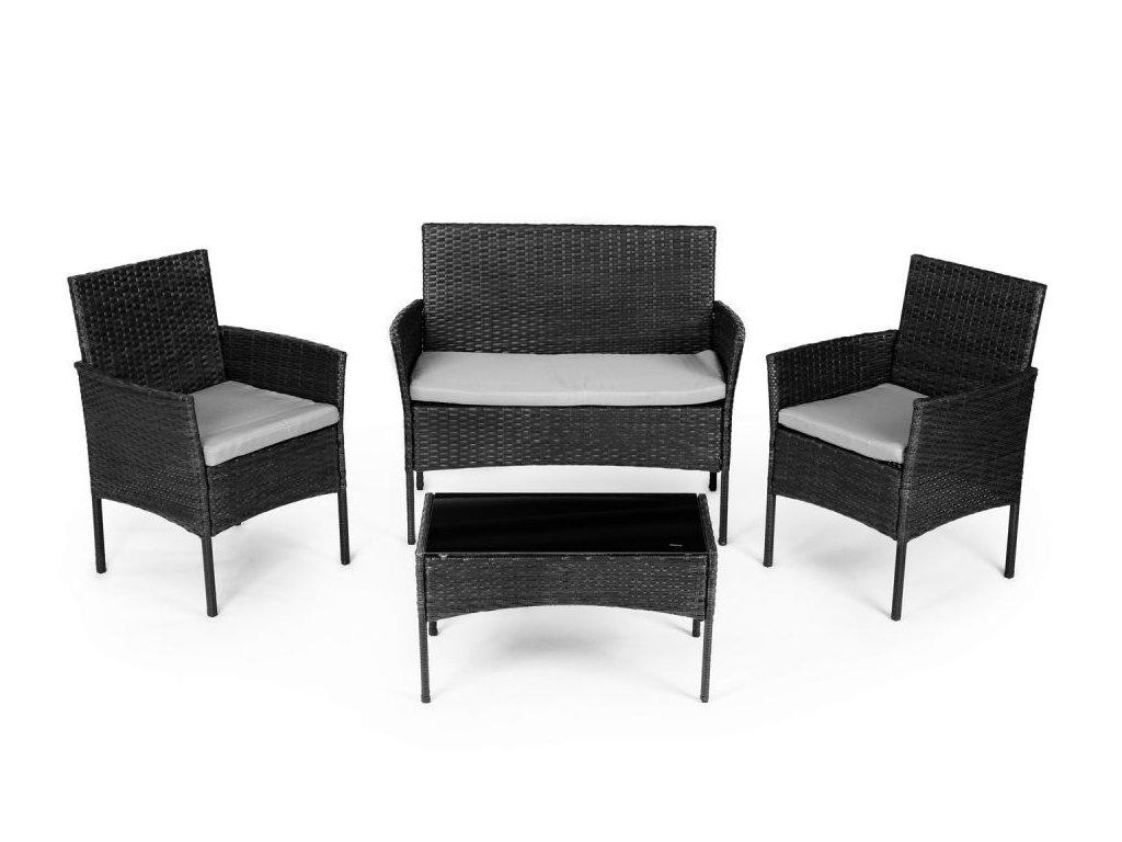 7697 Záhradný set ModernHome XS-RTS011 čierna