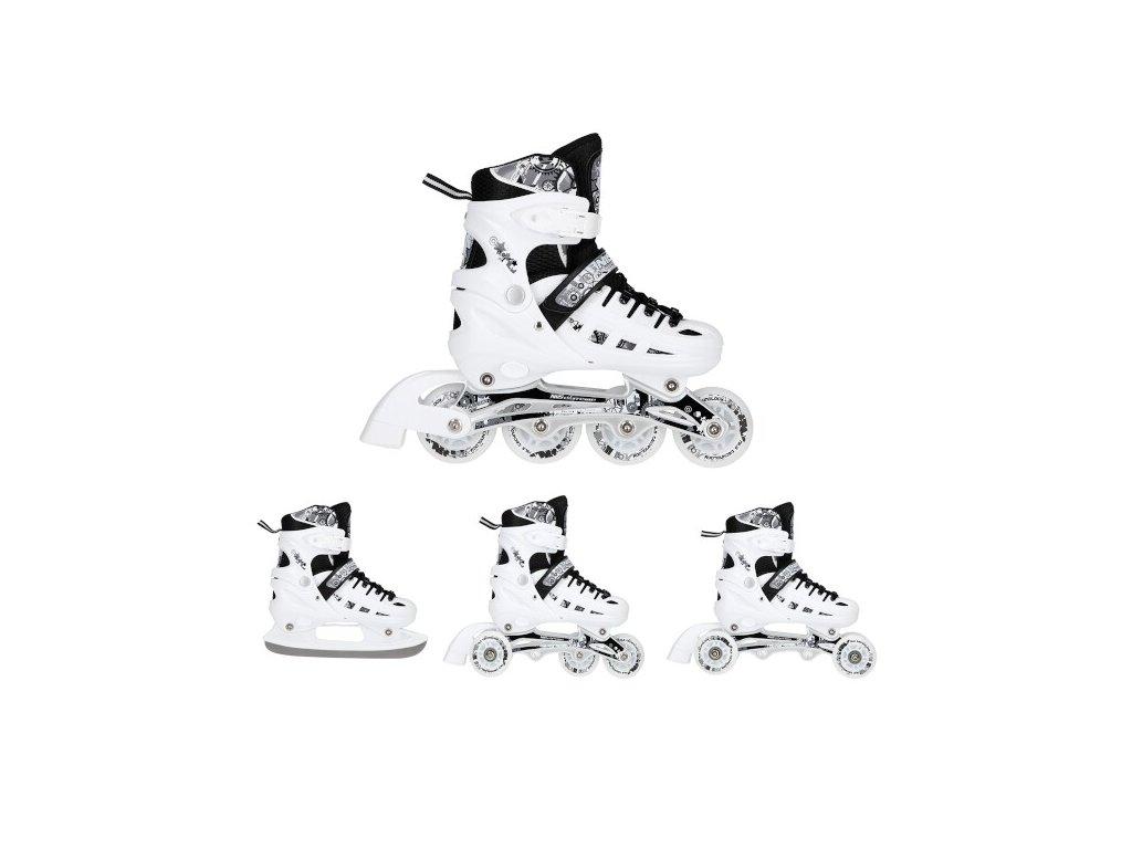 Zimné korčule Nils Extreme 4v1 NH 10905 biele