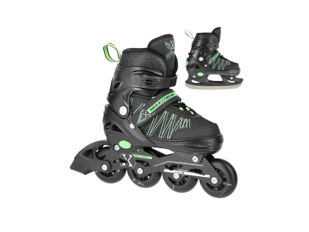 Kolieskové korčule Nils Extreme NH11912 A zelené
