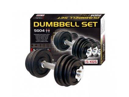 Jednoručný činkový set SG04 15 kg