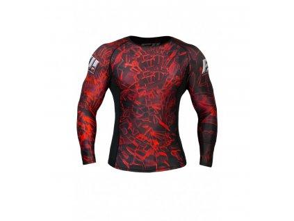 Tričko s dlhým rukávom FeelJ! Broken Glass Red