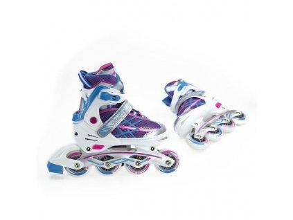 Detské kolieskové korčule Nils Extreme NA 1160 A fialové