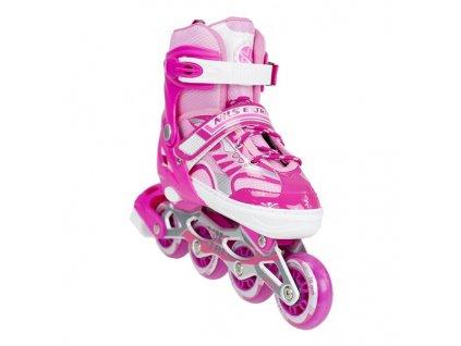 Kolieskové korčule Nils Extreme NA 1828 A ružové