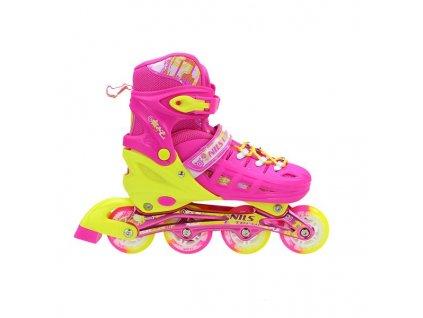 Kolieskové korčule Nils Extreme NA 1005 A ružové