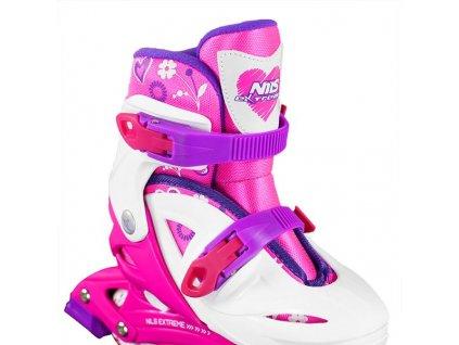 Detské korčule Nils Extreme NJ 0321 A ružové